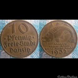 10 Pfennig 1932 Danzig