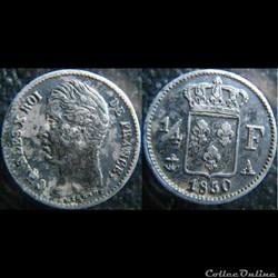 Quart de Franc 1830 A