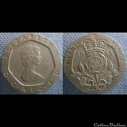 20 Pence 1983