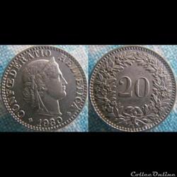 20 Rappen 1930 B