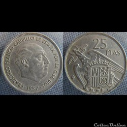 25 Pesetas 1957 (68)