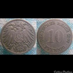 10 pfennig 1897 G