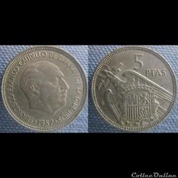 5 pesetas 1957 (59)