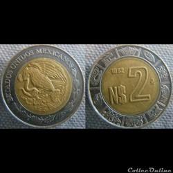 2 Nouveaux Pesos 1992