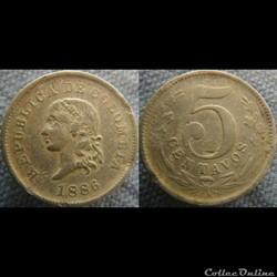 5 Centavos 1886