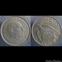 25 Pesetas 1957 (69)