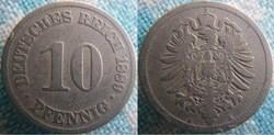 10 pfennig 1889 A