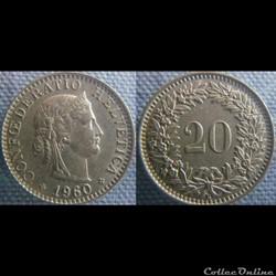 20 Rappen 1960 B