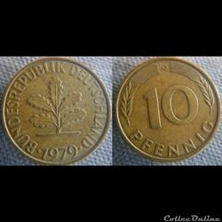 10 Pfennig 1979 G