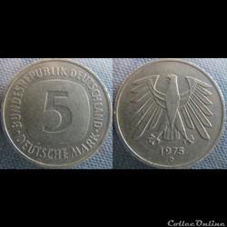 5 mark 1975 D