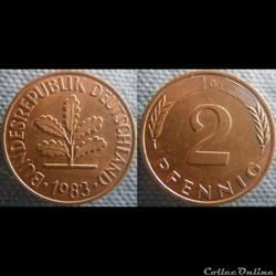 2 Pfennig 1983 G