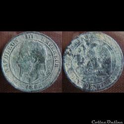 10 Centimes 1864 K