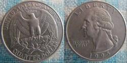 1/4 dollar 1995 D