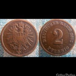 2 pfennig 1875 A