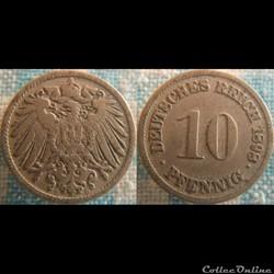 10 pfennig 1898 D