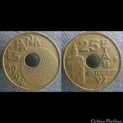 25 pesetas 1992