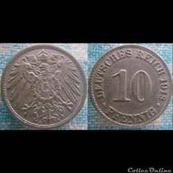 10 pfennig 1913 A