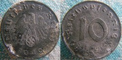 10 Reichspfennig 1940 D