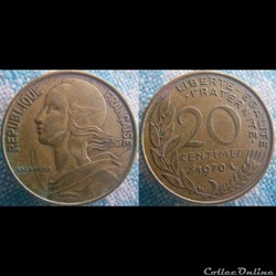 20 Centimes 1970