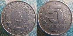 5 Pfennig 1968 A RDA