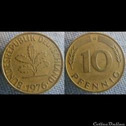 10 Pfennig 1976 G