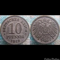 10 pfennig 1918