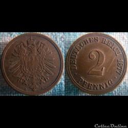 2 pfennig 1877 A