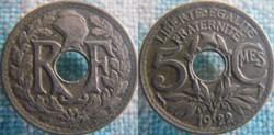 5 Centimes 1922 Poissy