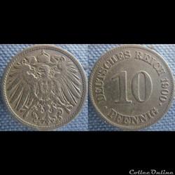 10 pfennig 1900 E