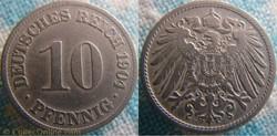 10 pfennig 1904 D