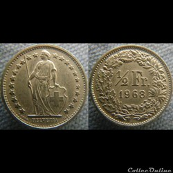 1/2 Franc 1968