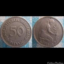 50 Pfennig 1968 G