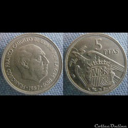 5 pesetas 1957 (74)