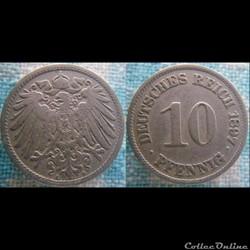 10 pfennig 1897 A