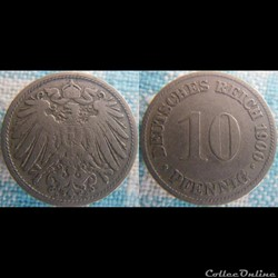10 pfennig 1900 D