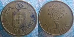 5 Escudos 1988