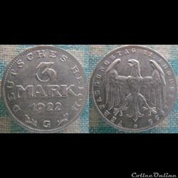3 Mark 1922 G