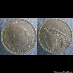 5 pesetas 1957 (73)
