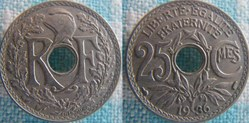 25 Centimes 1936