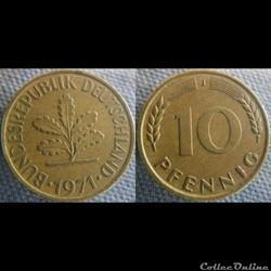 10 Pfennig 1971 J