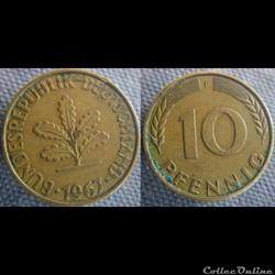 10 Pfennig 1967 F