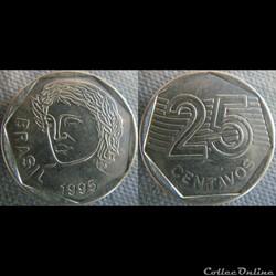 25 Centavos 1995
