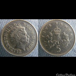 5 Pence 1999