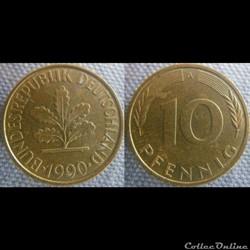 10 Pfennig 1990 A