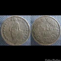 1/2 Franc 1878 B