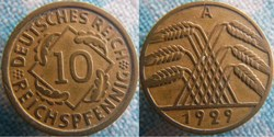 10 Reichspfennig 1929 A