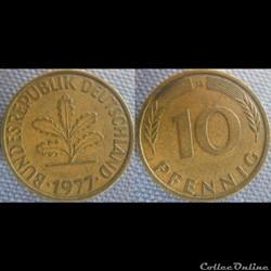 10 Pfennig 1977 G