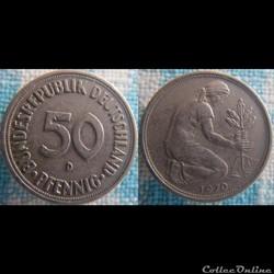 50 Pfennig 1970 D