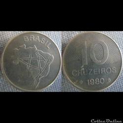 10 Cruzeiros 1980