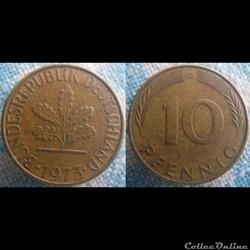 10 Pfennig 1973 G